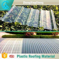 Temperature resistance plastic sheet plastic pc corrugated transparent roofing sheet for garden