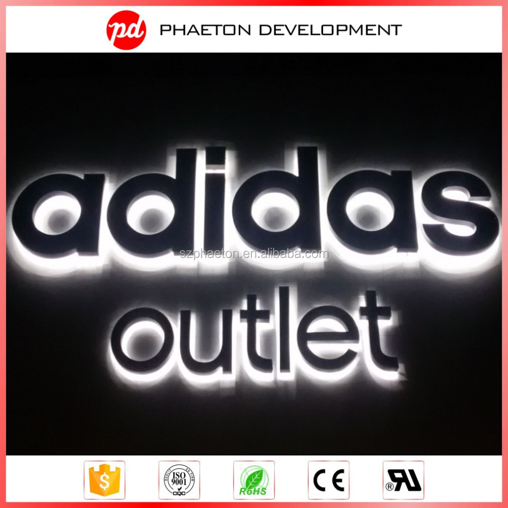 Outdoor led illuminated advertising large business signs