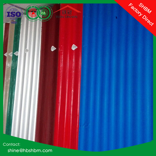 High strength anti corrosion heat insulated mgo roofng tiles / corrugated rustless mgo roofing sheet