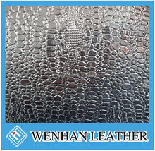 Good quality shiny PU stocklots leather for bag and shoes upper use
