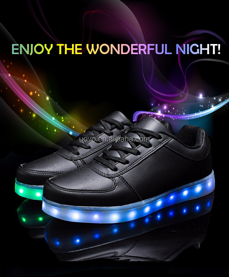 hot sale light flashing rechargeable led shoes