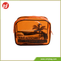 China Alibaba beach style dusk color PVC clear cosmetic bags wholesale