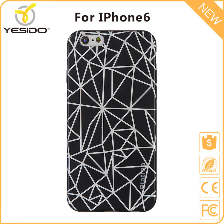 Fashion style tpu spider web waterproof case for iphone6s case cover tpu imd