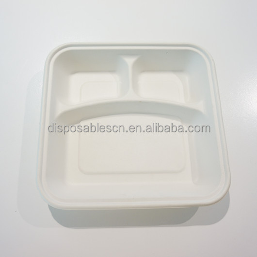 Disposable Different Size Bagasse Pulp Biodegradable Plate