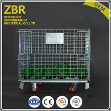 Plastic Wire Container Foldable Welded Mesh Cage