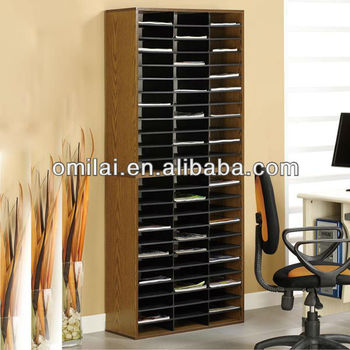 Office wooden standing file organizer