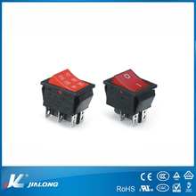 illuminated waterproof rocker switch, colorful switch rocker switch 20A 125V AC/16A 36V DC UL certificate