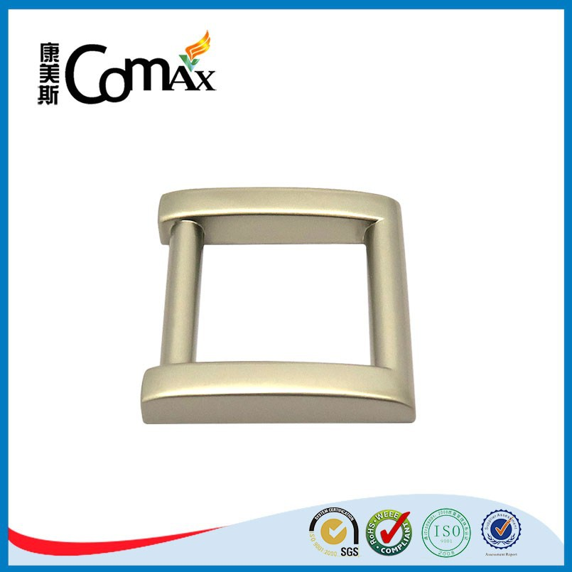 Zinc Alloy Pearl Nickle Square Metal Ring For Bags