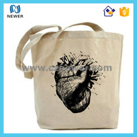 Tote trendy cheap cute stylish hot sale durable calico cotton shopping bags