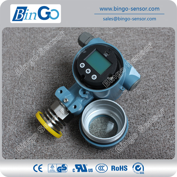 Flush diaphragm pressure sensor/transmitte with LCD display