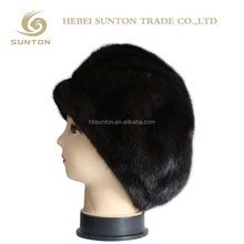 China Wholesale Animal Woman Whole Mink Fur Skullcap Hats with cheap price
