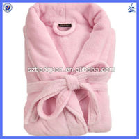 Super soft coral fleece wemen bath robe/ bath robe for wemen
