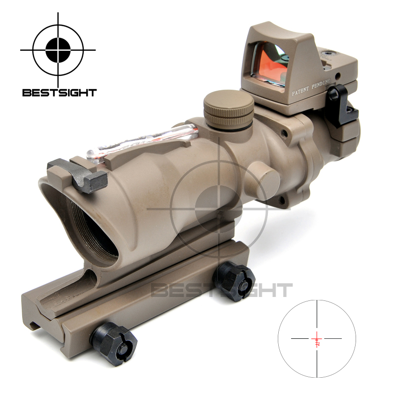 Trijicon ACOG Style 4X32 Fiber Source Red Illuminated Scope Red Dot for hunting scopes