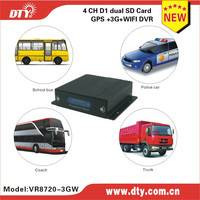 china famous brand DTY manufactuer 4 ch sd card gps tracker 3g mdvr with sim card,VR8720 series