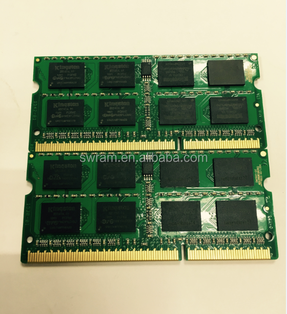 hot sell bulk ram 16ic original kst ddr3 8gb 1600mhz pc3-12800 memory modules 204pin lodimm all compatible paypal wholesale