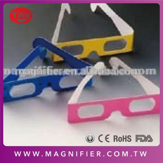 paper 3d glasses viewer anaglyph white bright red blue cyan vision 3d plain white frame red blue cardboard