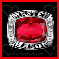new masonic rings wholesale champions style with stone setting