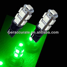 9 SMD T10 Car LED Indicator Lamp Taiwan Scooter Parts PA Green