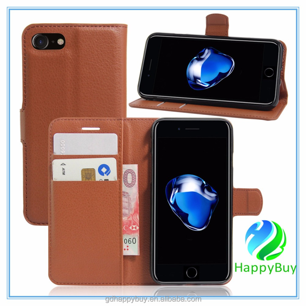 Free Sample Factory Price PU Protective Defender Flip Wallet Phone Cover for iphone 7 leather case for iphone 6s leather case