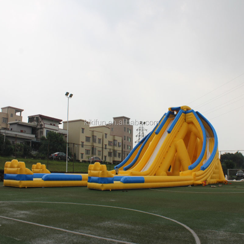 Shanghai QIQU factory giant inflatable slide for adults, outdoor amusement equipment water slide for adults and kids