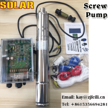 solar pump submersible 72v dc deep well solar water pump 4 inches screw solar water pump for agriculture
