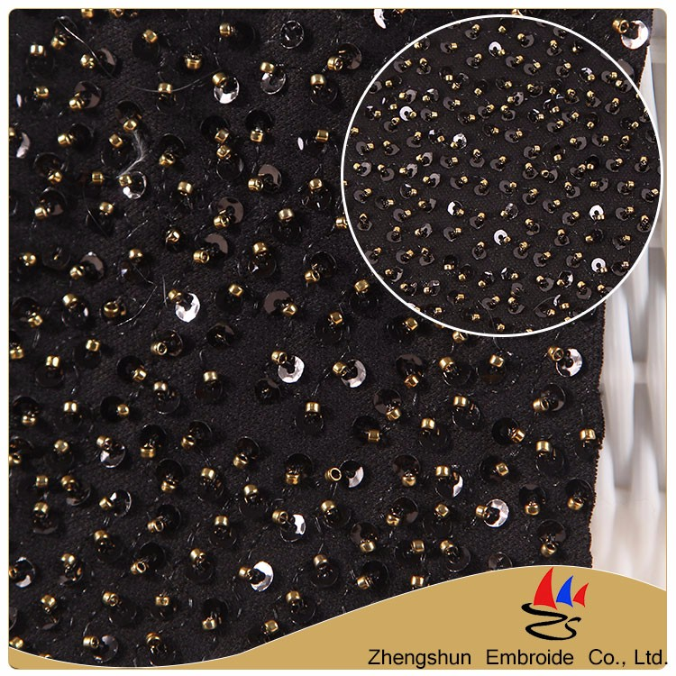 Hot selling new pattem beaded sequin applique mesh embroidery bridal lace trim wholesale lace fabric for dress