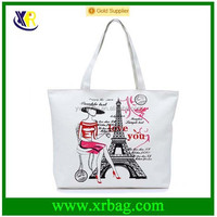 Factory custom cotton canvas tote shopping bag