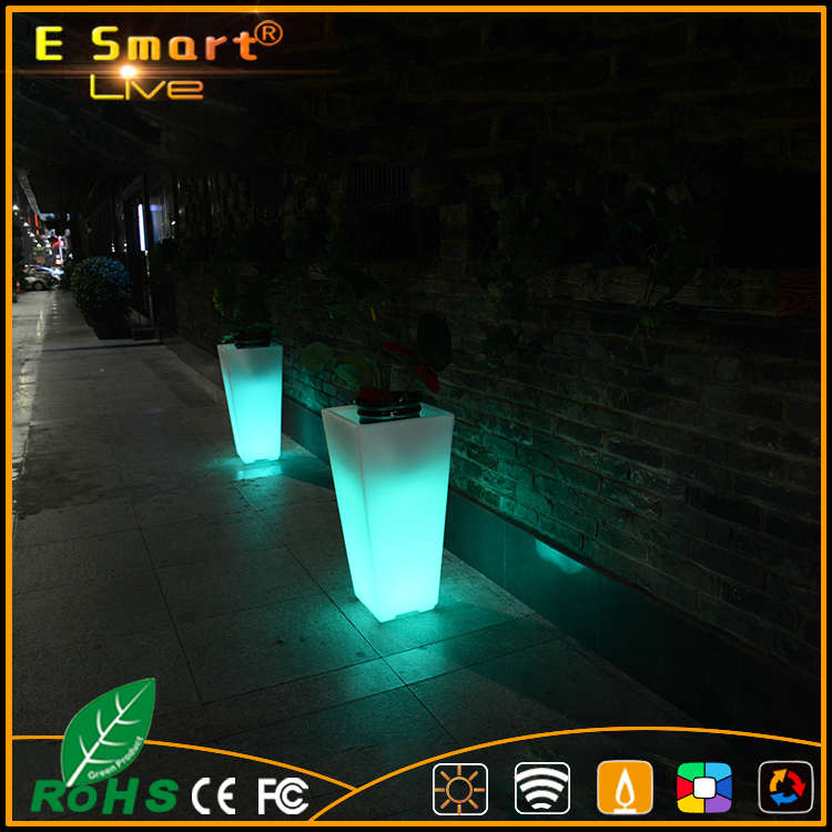 led mood light flower pot, garden led flower pot, beautiful led flower pot