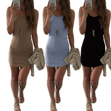 B30170A European ladies sexy pure color backless night club wear party dress