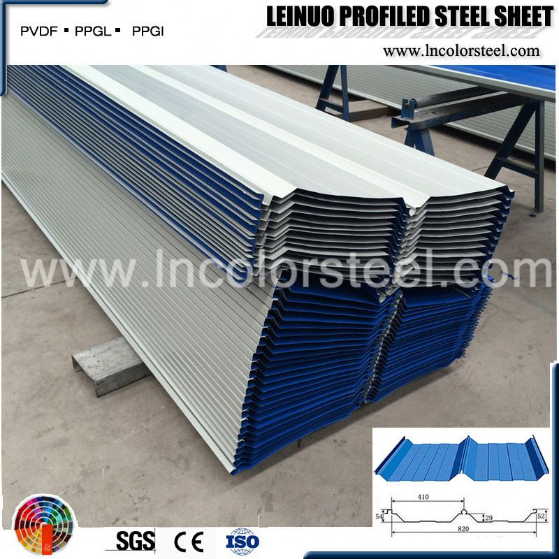 color steel metal roofing sheets building rib-type corrugated color roof