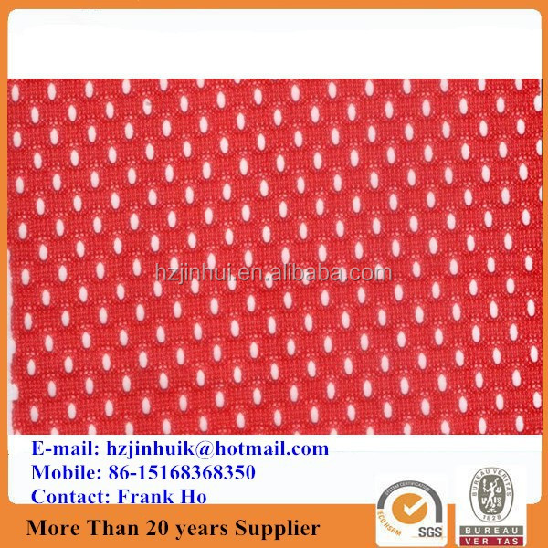 100% polyester sports small elliptic hole plastic mesh fabric