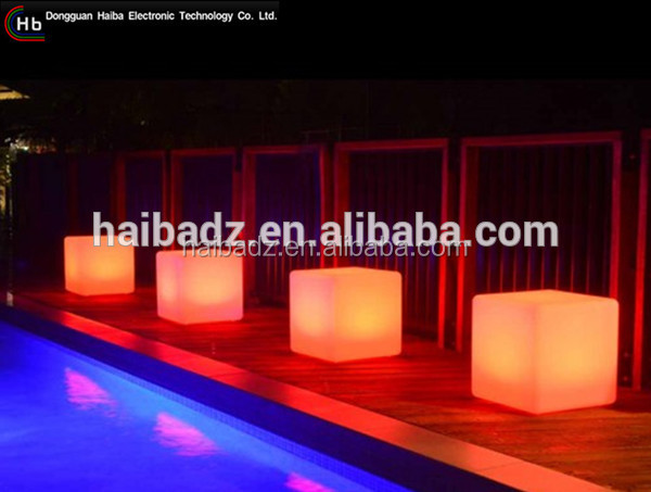 Luminous coffee furniture /LED glowing decorative cube chairs chinese wholesale suppliers