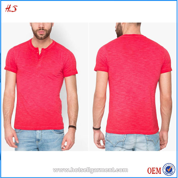 Henley Neck Cotton T-shirt Buy In China Of Unit Picture From Chinaese Clothing Manufacturer With Half Sleeves