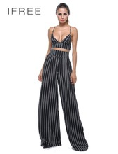 2017 Custom Design Trend Fashion Casual Stripe Women Pants Women Palazzo Pants