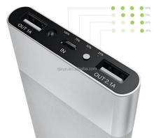 famous brand mobile power bank, 8000mah smart bank power