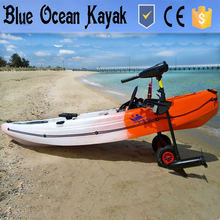 2016 Blue Ocean new design and colour kayak with electric trolling motor/fishing kayak/single fishing kayak with engine