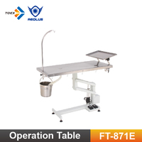 FT-871E-T Economic vet operating table electric clinic veterinary equipment with tissue tray