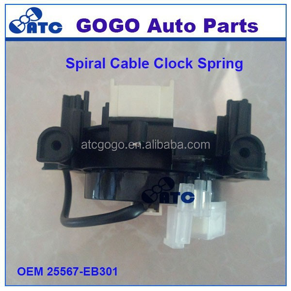 High Quality Spiral Cable Clock Spring For N issan Navara Pathfinder D40 OEM 25567-EB301 , 25567-EB60A