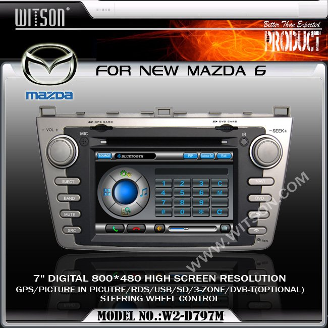 WITSON Car DVD GPS for NEW MAZDA 6