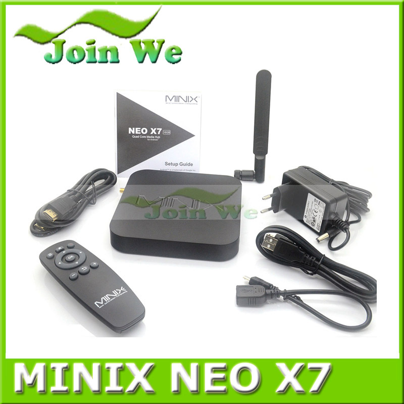 Minix Neo X7 RK 3188 Quad Core Andriod 4.2 TV Box A9 1.6GHz 2GB RAM 16GB Flash RJ45 MINIX X7