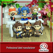 3d environmental rubber league of legends keychain