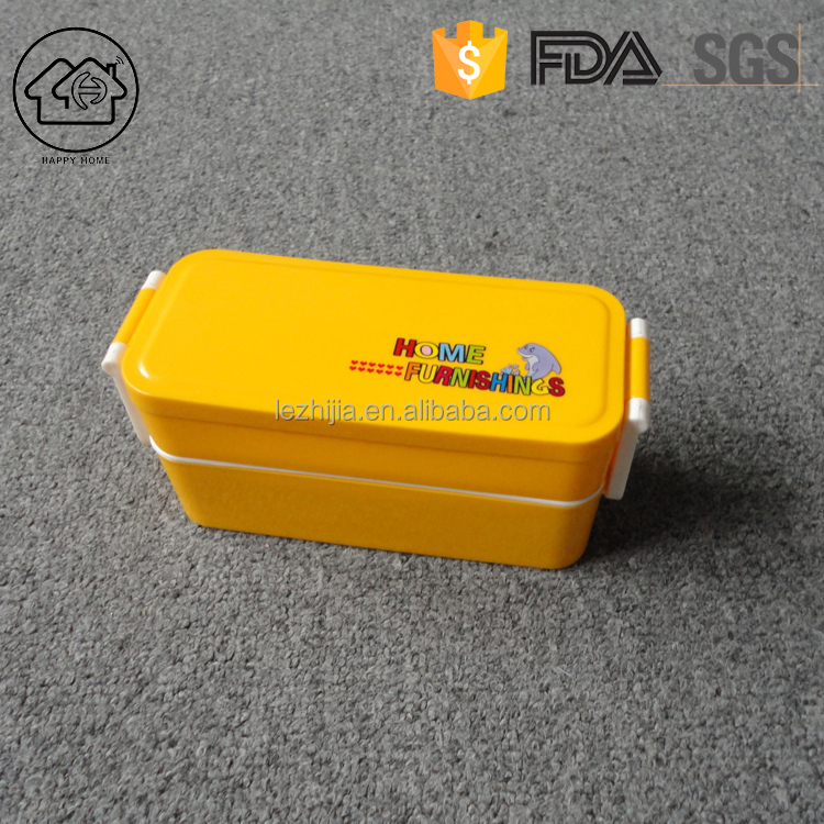 Custom logo square school plastic kids lunch box