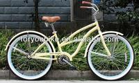 26 lady beach cruiser bike beach cruiser bicycle new model hot sale with CE,CPSC OEM
