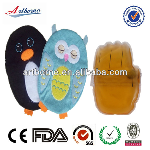 pvc reusable hot water heating pads/instant hot and cold pack gloves