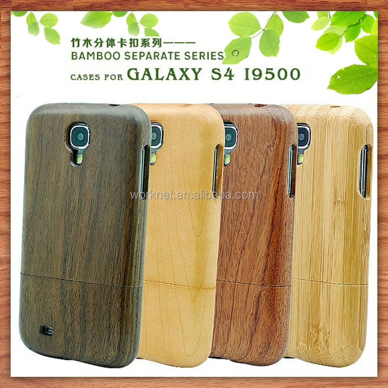two part wood hard back cover for samsung galaxy s4 walnut wood phone case