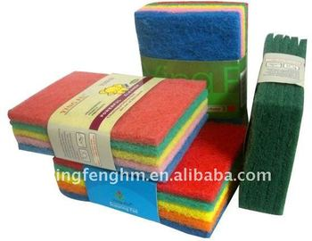 non-scratch scouring pad for dish