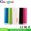 Promotion hot selling factory price 5200mAh portable LED light power bank best quality colorful brand new products 2015