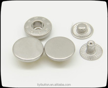 new arrival products, shiny side matte nickel metal snap button, snap dome button