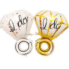 Wedding I DO diamond ring helium foil balloons for Valentine's Day