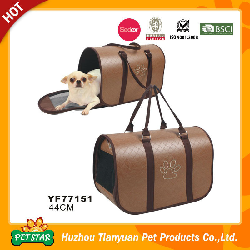 2016 New High End PU Leather Carrier for Dogs